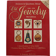 Book Reference Guide Old Jewelry 1840-1950 Volume 5 by J. Bell