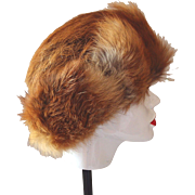 Red Fox Fur Hat Hand-Made in Poland