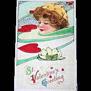 Schmucker Valentine Art Nouveau Postcard