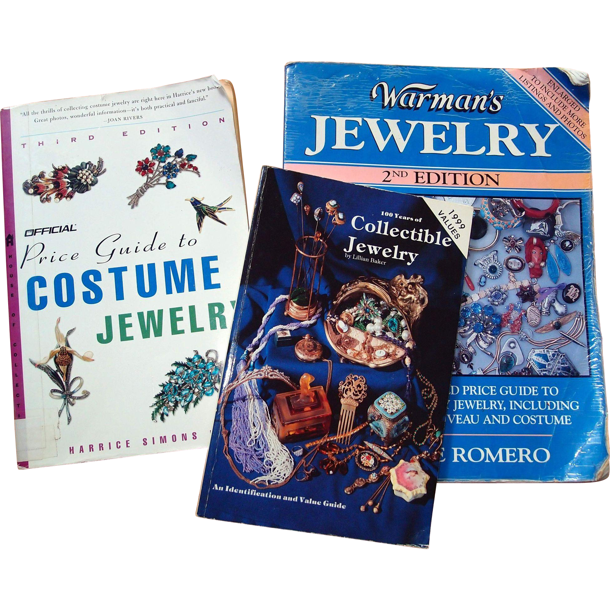 Collectible Jewelry Reference Guides: 3 Books