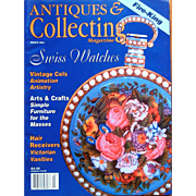 Antiques and Collecting Magazine on Swiss Watches and Fire-King Glass
