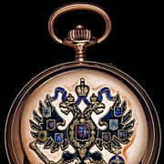 Russian Imperial Eagle Gold & Enamel Pocket Watch