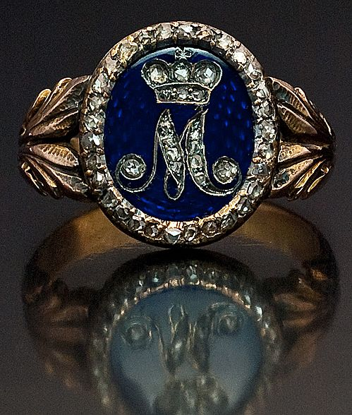 Museum Quality ROYAL Russian Gold Presentation Ring c.1800