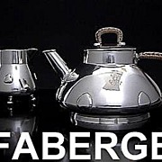 Antique CARL  FABERGE Silver Tea Set 1899-1908