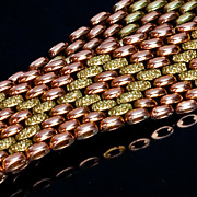 Heavy Vintage Woven Gold Bracelet - 56 g