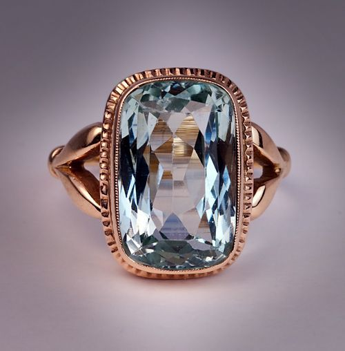 antique 9 ct aquamarine gold ring from romanovrussia