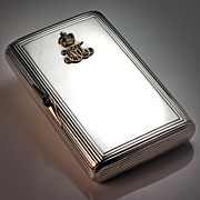 Faberge Russian  Imperial Presentation Silver Case
