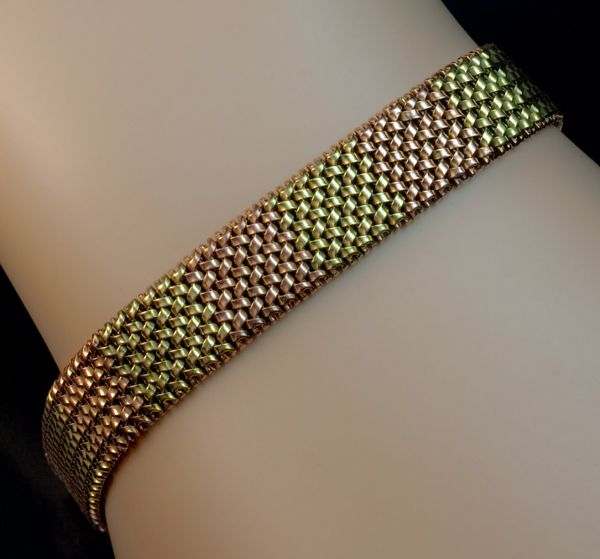 Vintage gold mesh bracelet romanov russia ltd ruby lane for Best place to sell gold jewelry in chicago