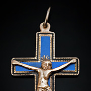 Rare c. 1811 Gold and Enamel Pectoral Cross Pendant