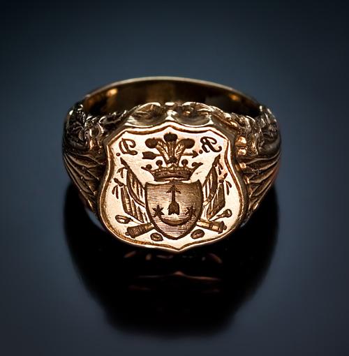 Antique Ruby Ring Gold Men