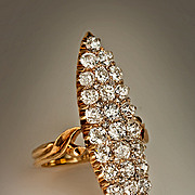 Antique Marquise Shaped Diamond Cluster Ring