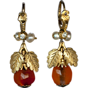 Georgian Amber Earrings c. 1780