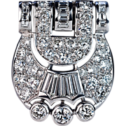 Original Art Deco Diamond Clip / Brooch