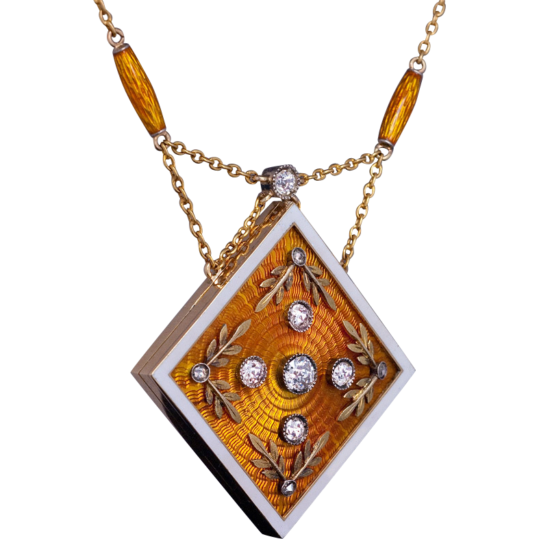 Magnificent antique russian enameled 14k gold diamond for Best place to sell gold jewelry in chicago