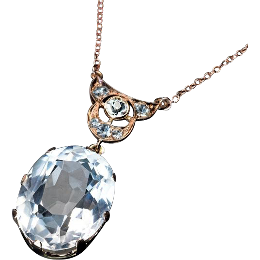 vintage art deco rock crystal necklace from romanovrussia
