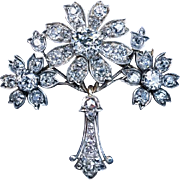 Belle Epoque Antique 4 Ct Diamond Pendant – Brooch 1890s