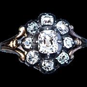Antique Georgian Diamond Cluster Ring