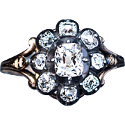 Antique Georgian Diamond Cluster Ring