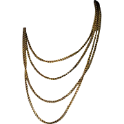 Antique Russo-Polish 75 in. Long 14K Gold Chain Necklace