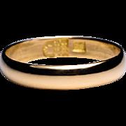 Antique Tsarist Era 23K Gold Wedding Band Dated 1884