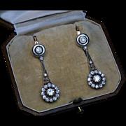 Antique Russian Day – Night Diamond Dangle Earrings