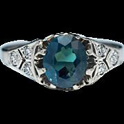 Vintage Russian 1.03 Ct Alexandrite Diamond Ring