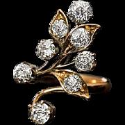 Antique Art Nouveau Diamond Flower Ring