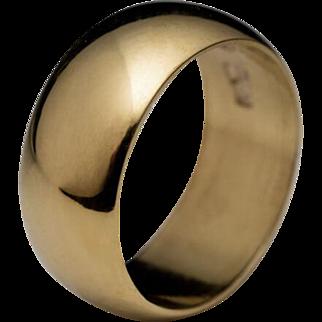 Tsarist Era Antique Russian 23K Gold Wide Band Wedding Ring