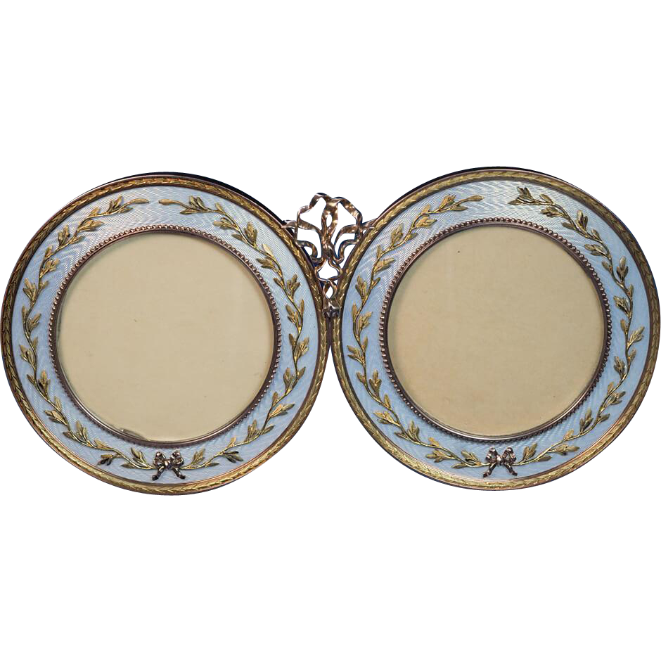 Faberge antique russian 14k gold guilloche enamel double for Best place to sell gold jewelry in chicago