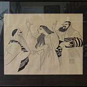 Al Hirschfeld lithograph signed in plate