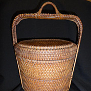 Chinese Two Tiered Woven Wedding Basket