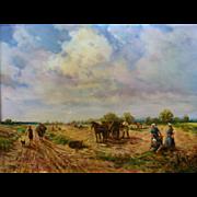 Heinrich Berger (German) Stunning Oil on Panel