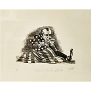 "Paul Szep ""National Security Blanket"" Original Lithograph"