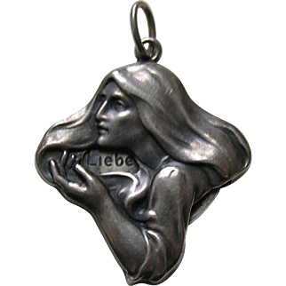 Antique German Fortune Teller 900 Silver Charm/Pendant