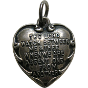 "Vintage Mizpah ""Mother"" Sterling Heart Charm"