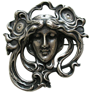 Gorham Art Nouveau Sterling Brooch