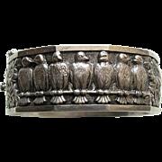 Topazio Vintage Bird and Daisy 835 Silver Bracelet