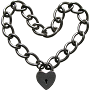 Walter Lampl Sterling Heart Lock and Bracelet