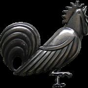 Vintage Coro Sterling Rooster Brooch
