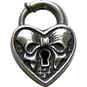 Walter Lampl Bow Sterling Heart Lock