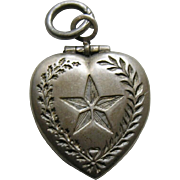 Vintage Lone Star Sterling Heart Locket Charm