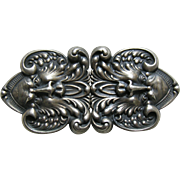 Antique North Wind Sterling Buckle Set