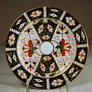 "Salad Plate in Royal Crown Derby's Pattern #2451, ""Traditional Imari"""