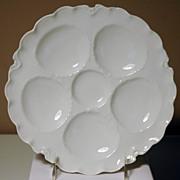 Porcelain Oyster Plate in Ranson Pattern Haviland Limoges