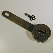 T.C. Prouty Co. Ltd Patents Pending Brass Lock with Key