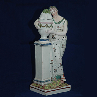 """Nineteenth Century Staffordshire Figure, """"Charlotte at the Tomb of Werther"""""""
