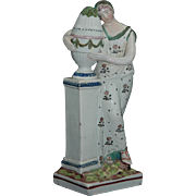 "Nineteenth Century Staffordshire Figure, ""Charlotte at the Tomb of Werther"""