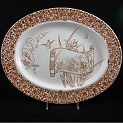 "19th Century English Oval Platter in the ""CAIRO"" Series"