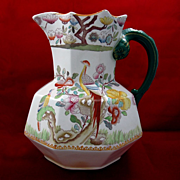 19th Century Mason's Ironstone Jug with Pheasant Decoration