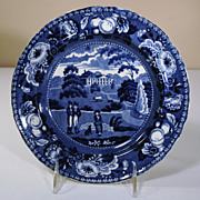 19th Century Staffordshire Plate from the Fruit & Flower Border Series